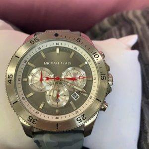 Men's Gray Camouflage Michael Kor Watch
